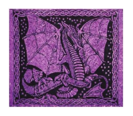 Dragon In Purple Tapestry