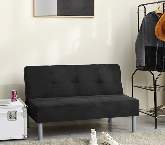 College Mini Futon Black