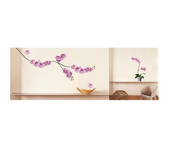 pink orchids peel n stick dorm room decorating. Black Bedroom Furniture Sets. Home Design Ideas