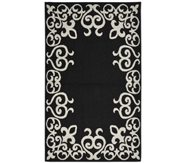 Bordeaux College Rug - Black and Silver