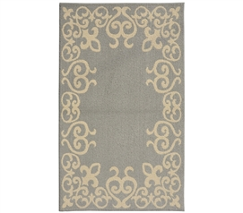 Bordeaux College Rug - Silver and Ivory