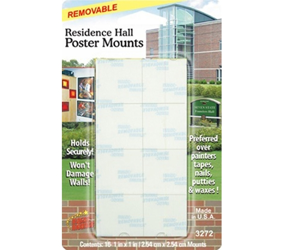 Residence Hall Poster Mounts Mounting Tape Hangs Dorm