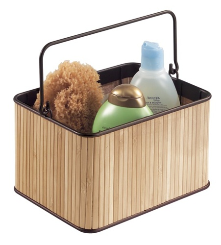 Bamboo Shower Caddy Dorm Bath Caddy
