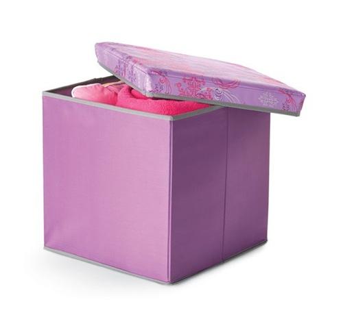 Storage Ottoman Purple Fusion Cool Dorm Room Stuff