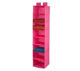 Pink 8-Shelf Hanging Organizer