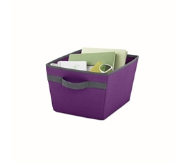 Useful Dorm Storage - Handy Dorm Storage Bin - Eggplant - Cool Items For College