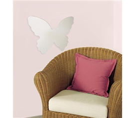 Add Dorm Wall Decor - Butterfly Mirror - Peel N Stick - Very Cool Mirror