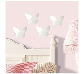 Baby Butterfly Mirrors - Peel N Stick Dorm Decorating supplies