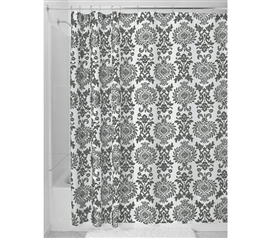 Charcoal Damask Shower Curtain