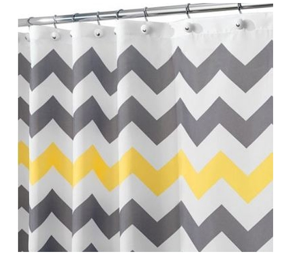 Tj Maxx Shower Curtains Yellow and Light Blue Chevron