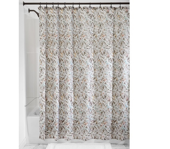 Butterfly Fabric Shower Curtain Taupe Dorm Essentials