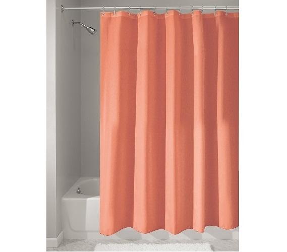 fabric college shower curtain coral dorm essentials dorm room decor