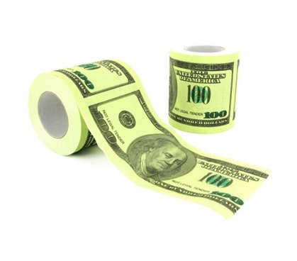 100 Dollar Toilet Paper Roll Products For Dorms Fun Items