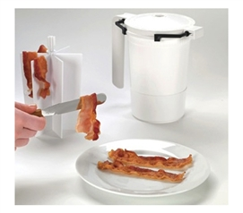 Simple To Use - Wow Bacon - Microwave Bacon Cooker - Great For Bacon Lovers