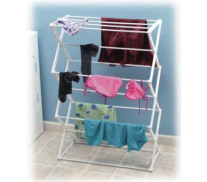 5 Tier Mildew Resistant Drying Rack Dorm Laundry Essential