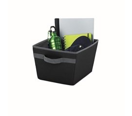 Handy Dorm Storage Bin - Black - Useful Dorm Storage Item