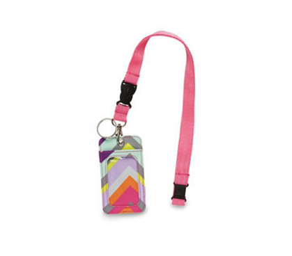 Chevron Stripe Student ID Holder Are Great College Dorm Supplies - Lanyard Style