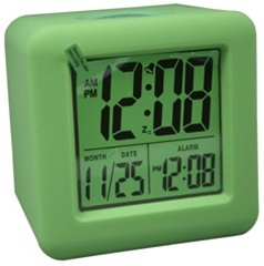 Lime Green Cubed Lcd Digital Alarm Clock College Dorm