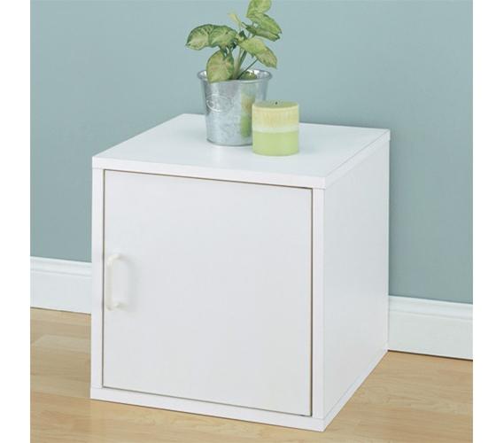 Single Door Storage Cube Bedside Table College Organizer