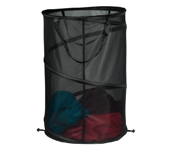 Pop Up Black Micro Mesh Dorm Laundry Hamper Dorm Essentials