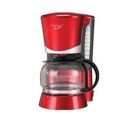 4 Cup Metallic Red Coffee Maker dorm room appliance