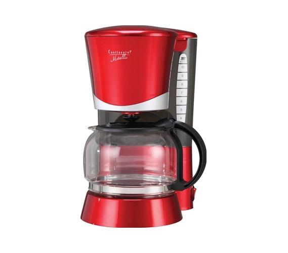 4 Cup Metallic Red Coffee Maker dorm room appliance