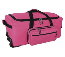 Storage Trunk with Wheels Mini Monster Bag Trunk - Pink Dorm Trunk Dorm Essentials