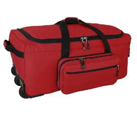 Mini Monster Bag Trunk - Red Dorm Trunks With Wheels Dorm Essentials