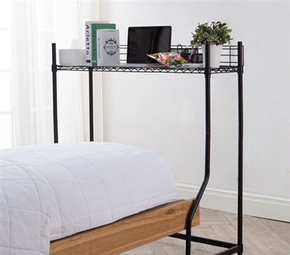 Essential dorm furniture must have black mini over the bed - Dorm room storage solutions ...
