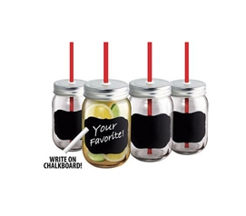Chalkboard Beverage Jars - Set Of 4