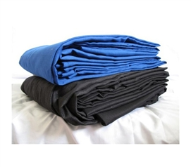 Supersoft Twin XL Bedding Sheets - Black & Blue college bedding sheets in Twin XL