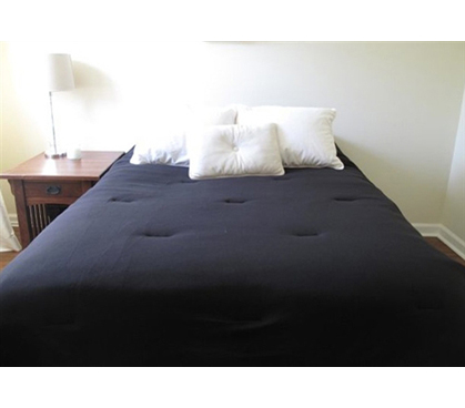 Jersey Knit Twin XL College Comforter (100% Cotton)   Black   Feels Like