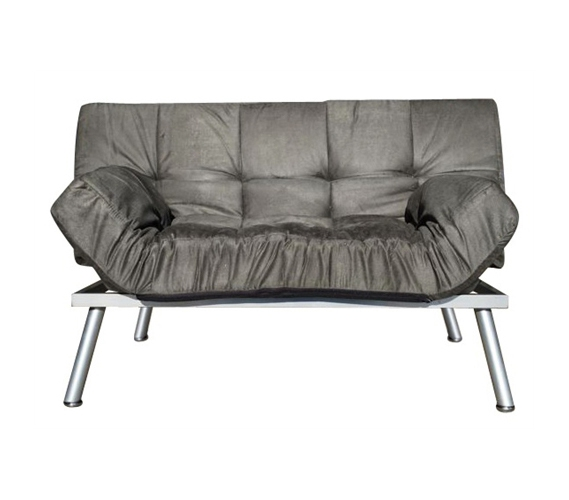 The College Cozy Sofa Mini Futon Gray Fun Dorm Furniture