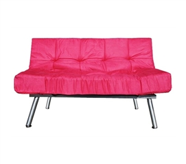 The College Cozy Sofa Mini-Futon Pink Dorm Furniture