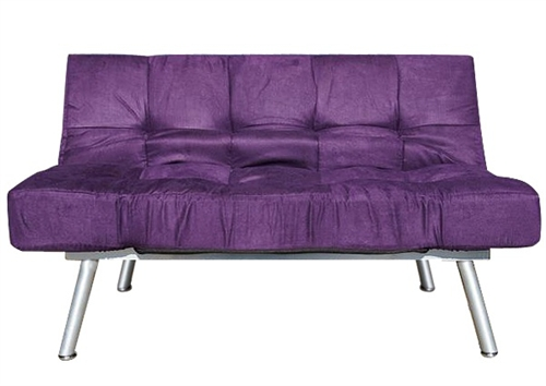 The College Cozy Sofa Mini Futon Purple Dorm Furniture