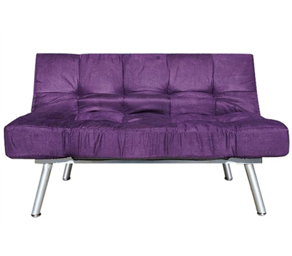 The College Cozy Sofa Mini-Futon Purple Dorm Furniture - Add Seating To Dorm