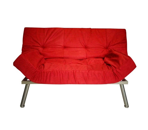 The College Cozy Sofa Mini Futon Red