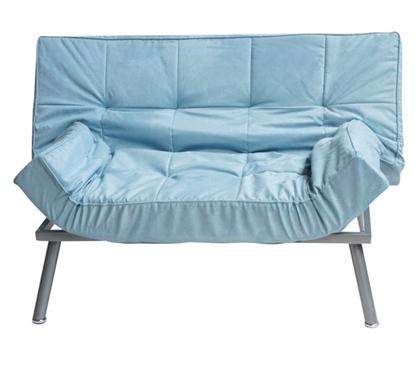 The College Cozy Sofa (Mini-Futon) - Silver Blue Dorm ...