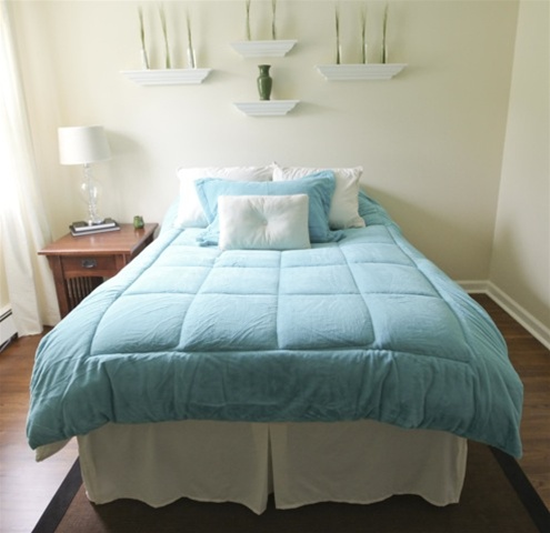 College Plush Comforter Purest Ocean Blue Twin Xl Dorm