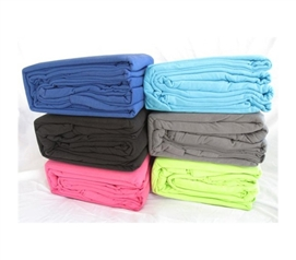 Feels Like Soft T-Shirt! - College Jersey Knit Twin XL Sheets - 2-PACK - Twice The Comfort!