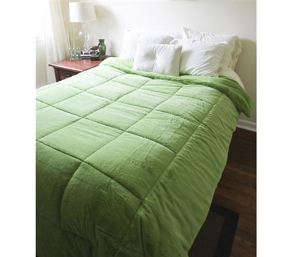 College Plush Comforter Avocado Green Twin Xl Extra
