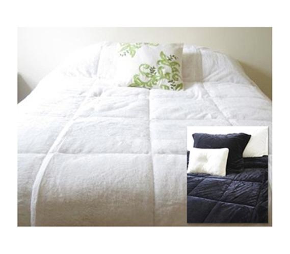 Black Amp White Reversible College Plush Comforter Twin Xl