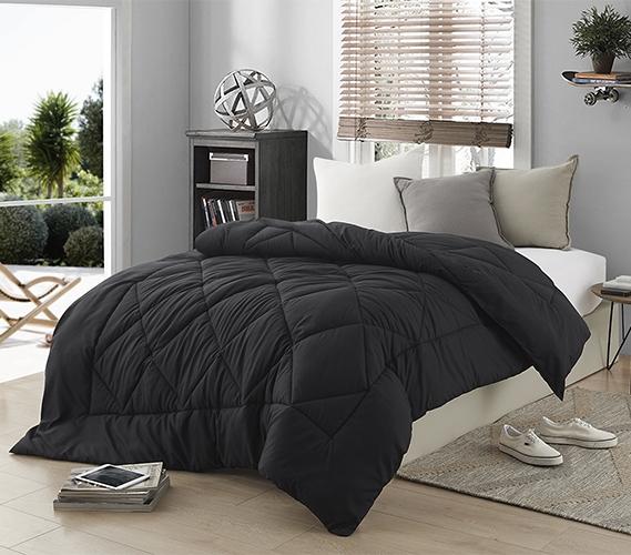 Dorm Bedding Black Comforter Extra Long Twin Comforter
