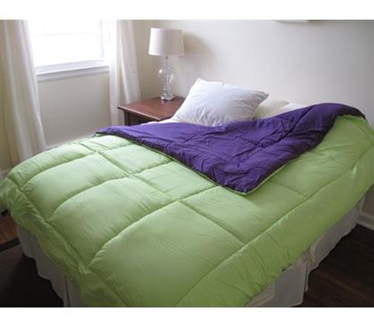 cheap college dorm room essentials lime green purple reversible