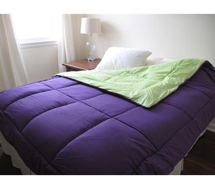 Colorful Dorm Room Mattress Purple Lime Green Reversible