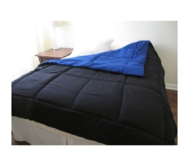 Black/Blue Reversible College Comforter - Twin XL - Twin XL Dorm Bedding Comforters