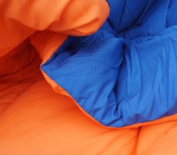 Blue orange reversible college comforter twin xl cool - Orange and blue comforter ...