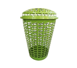 Cool Green Color - Tall Round Laundry Hamper - Green - Needed For Wash In College