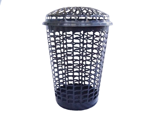 Tall Round Laundry Hamper - Black College Wash Clothes ...
