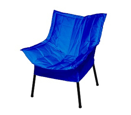 Dorm Room Padded Comfort Chair Blue College Stuff Chairs